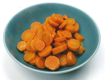 Carrots before steaming